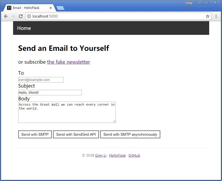Flask Web开发实战第6章电子邮件示例程序