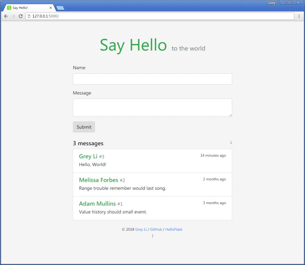 SayHello主页